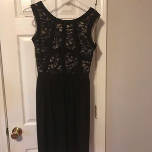 Dresses & Skirts - Black Dress with lace detail